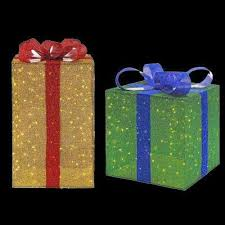 outdoor lighted gift boxes lighted christmas decor my web value