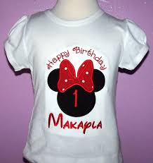 custom happy birthday minnie mouse shirt big red bow