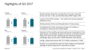 daimler ag 2017 q3 results earnings call slides daimler ag