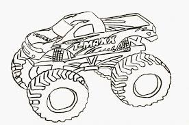 clever design ideas monster truck coloring pages printable 224