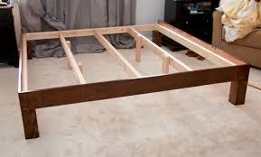 fancy diy king platform bed with platform bed frame plans