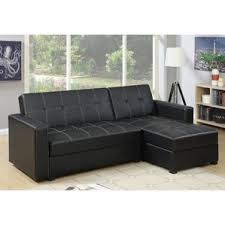 Black Leather Sofa With Chaise Black Sectional Sofas You U0027ll Love Wayfair
