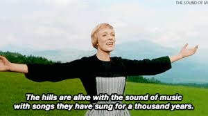 Sound Of Music Meme - julie andrews the hills are alive with the sound of music gif by