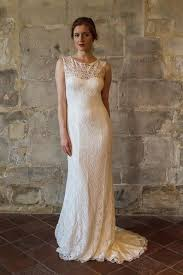 Vintage Style Wedding Dress Lace Wedding Dress Transparent Low Back Long Train Vintage Style