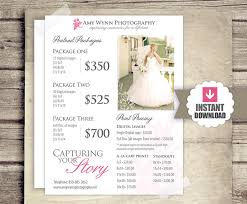 wedding photographer prices wedding photography price list session packages pricing