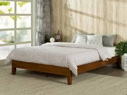 wooden platform beds farmhouse rustic solid wood platform bed