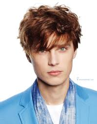 handsome hairstyle for young men with the hair styled towards the