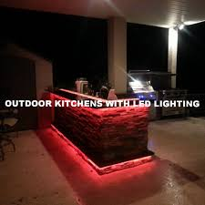 Outdoor Kitchen Lighting Outdoor Kitchens With Led Lighting 36 Photos Premier Outdoor