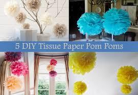 Home Design Garden Architecture Blog Magazine 5 Diy Tissue Paper Pom Poms Home Design Garden U0026 Architecture