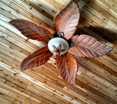 leaf ceiling fan with light tropical ceiling fan for those languid evenings tropical delight