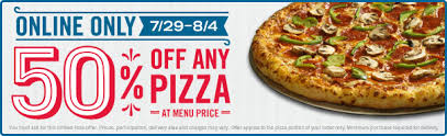 jobs at domino s pizza 50 off online order news domino s 50 off any pizza ordered online brand eating