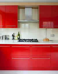 Kitchen Red Cabinets by Kitchen Red Walls Cream Cabinets With Darker Fixtures Dark