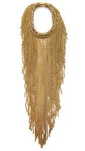 bex rox maasai long chain necklace in metallic lyst