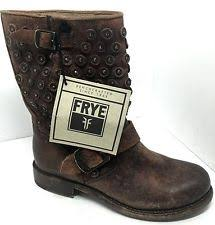 short black motorcycle boots frye womens veronica stud moto short motorcycle boot dark brown 6 m