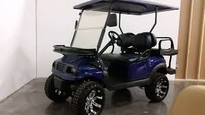 club car precedent i2 navy phantom 48v electric golf cart