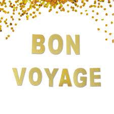 bon voyage glitter banner going away moving banner