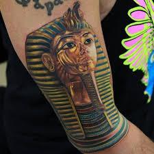 10 glorious tutankhamun mask tattoos tattoodo