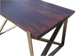 wood and metal dining table churchwood dining table 66inches