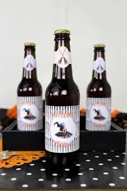 halloween bottle lables halloween drink labels