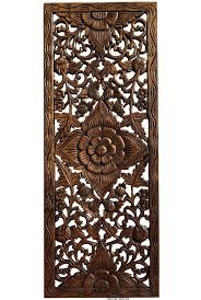 floral wood carved wall panel wood wall decor for sale asiana
