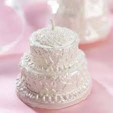 wedding favor candles white wedding cake candles 3 or less wedding favors wedding