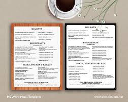 ms word menu template microsoft word menu templates
