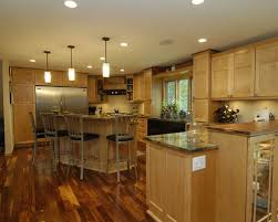 Dark Floor Kitchen by Maple Cabinet Dark Floor Houzz