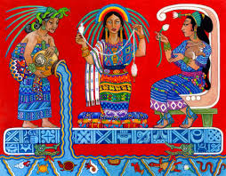 ix chel the goddess of the moon rainbow and weaving