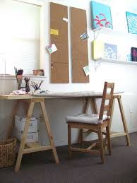 saw horse desk rooms