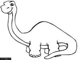 brontosaurus coloring images reverse