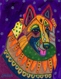 belgian sheepdog art heather galler dog art belgian tervuren dog art