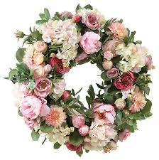 seymour botanicals garden flowers wreath 24 traditional