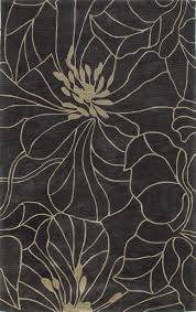 Free Area Rugs Kas Bali 2816 Charcoal And Taupe Floral Chic Area Rugs At Bold