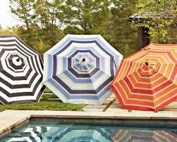 Striped Patio Umbrella Add Outdoor Style With Patio Umbrellas Mjn And Associates Interiors