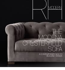 Chesterfield Sofa Modern by Restoration Hardware Rh Modern Discover Our Curated Collection