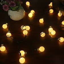 solar light string 30led bubble beads decorative lights outdoor