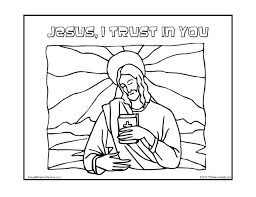 jesus i trust in you coloring page that resource site