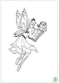 barbie mariposa fairy princess coloring dinokids