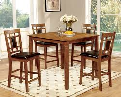 counter height dining room table sets buy furniture of america cm3502pt 5pk set freeman ii 5pc counter