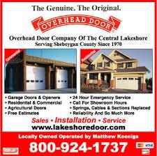 Overhead Door Hours Overhead Door Company Of The Central Lakeshore 2602 Ave