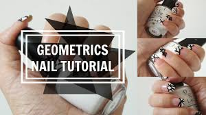 quick u0026 easy nail tutorial 2015 geometric french tips youtube