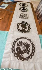 make your own table runner make a table runner with heat transfer vinyl semigloss design