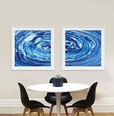 set of 2 prints printable abstract scandinavian modern zoom