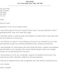 transport planner cover letter example u2013 cover letters and cv examples