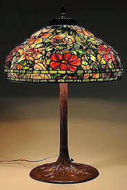 tiffany l base reproductions tiffany l shade l reproduction with floral leaded glass shade