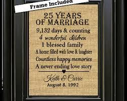 25 wedding anniversary gifts silver anniversary etsy