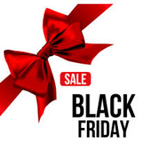 ribbon for sale black friday sale banner with ribbon and bow vector image