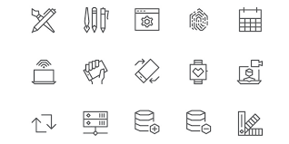 material design sketch icon set bypeople