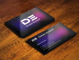Event Business Cards Professional Colorful Business Card Design For Creative Designs