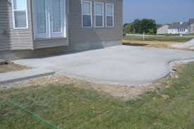 Backyard Concrete Ideas Concrete Backyard Cost Home Outdoor Decoration